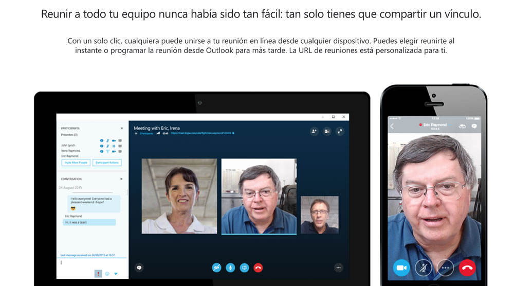 Trabajando en equipo con Skype