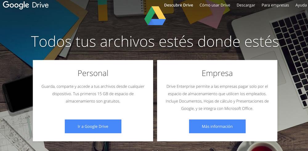 Cómo subir archivos en Google Drive