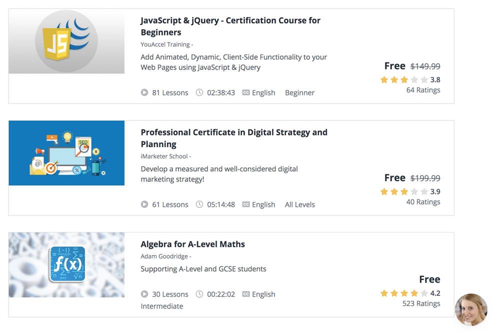 Mejores cursos gratuitos en Ustreamy