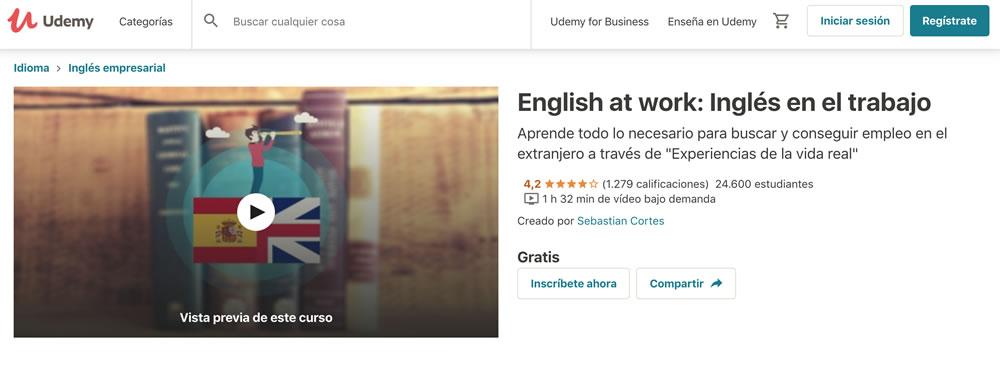 Curso de Inglés en Udemy