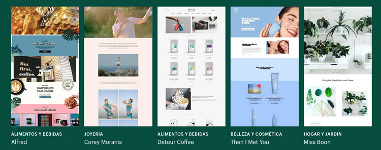 Sitios hechos con Shopify
