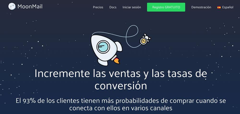 Mejorar la tasa de conversión - MoonMail