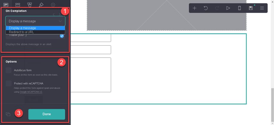 Dónde mostrar el formulario en la web