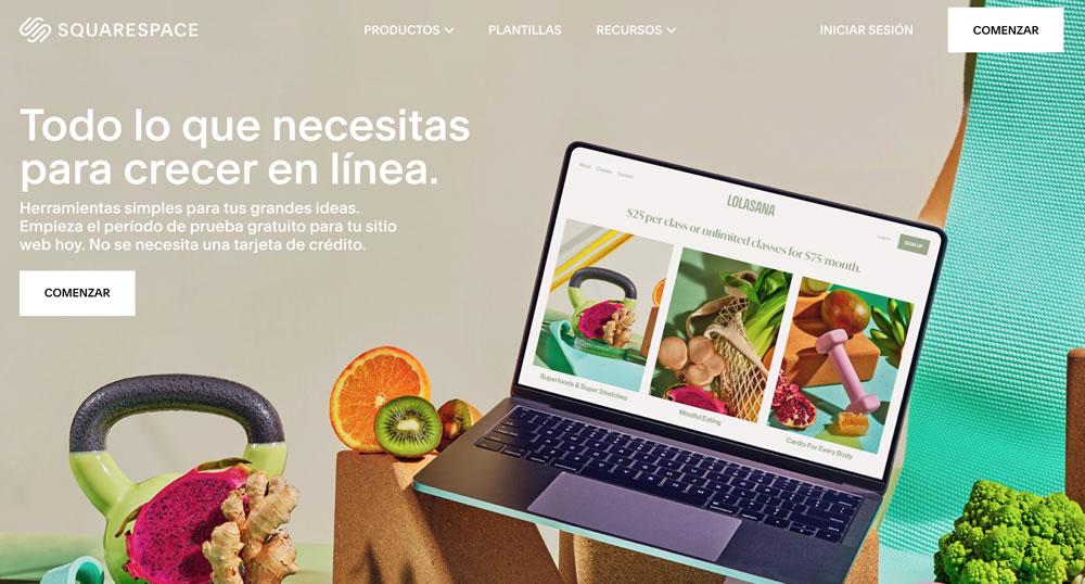 Sitio web de Squarespace