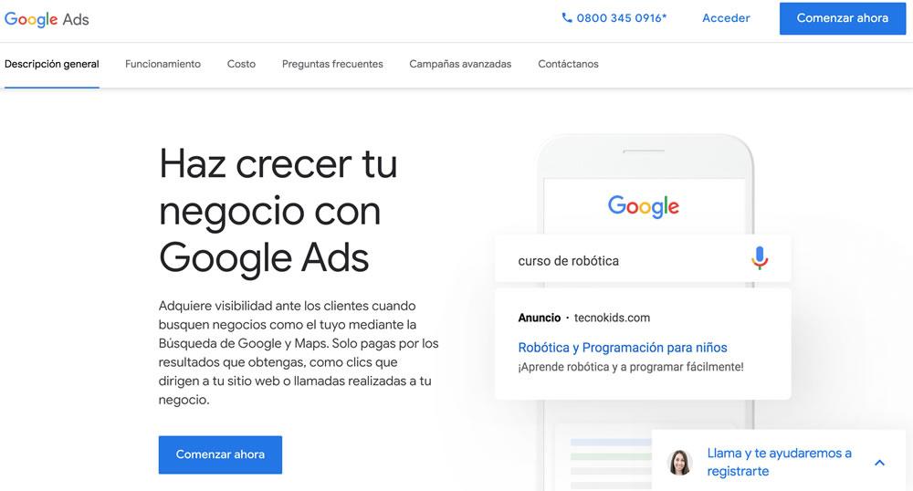 Cómo crear tu campaña con Google Ads