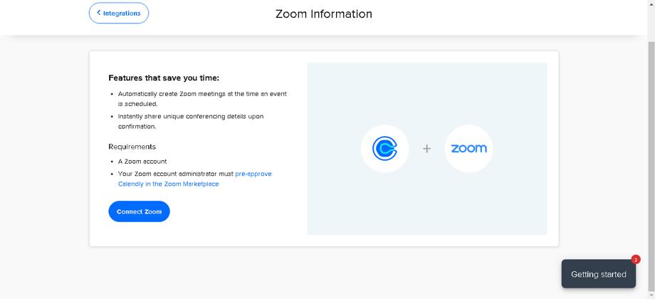 Autorizar a Calendly a usar datos de Zoom