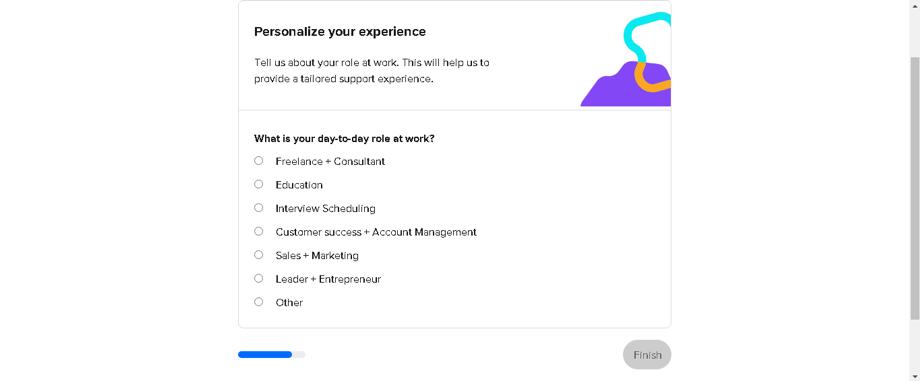 Definir cargo o función para personalizar la experiencia