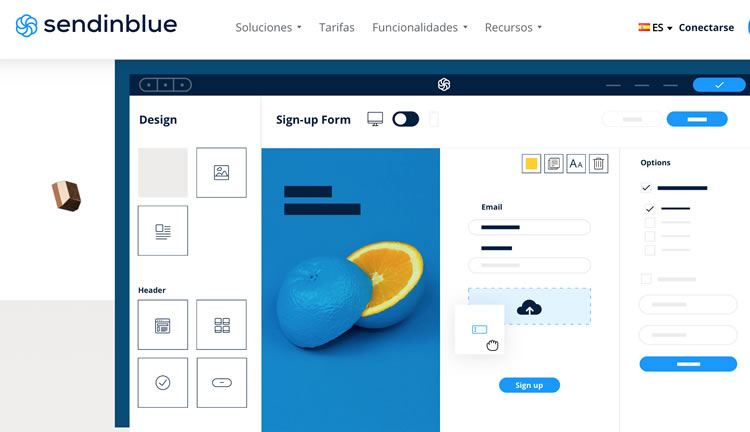 Formularios de registro SendinBlue